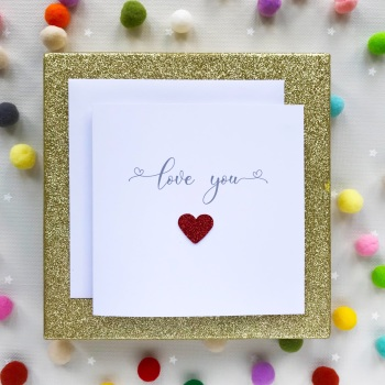 Valentine's Greeting Card - Love You