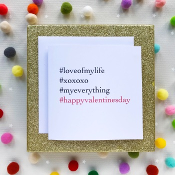 Valentine's Hashtag Greeting Card - Happy Valentines Day