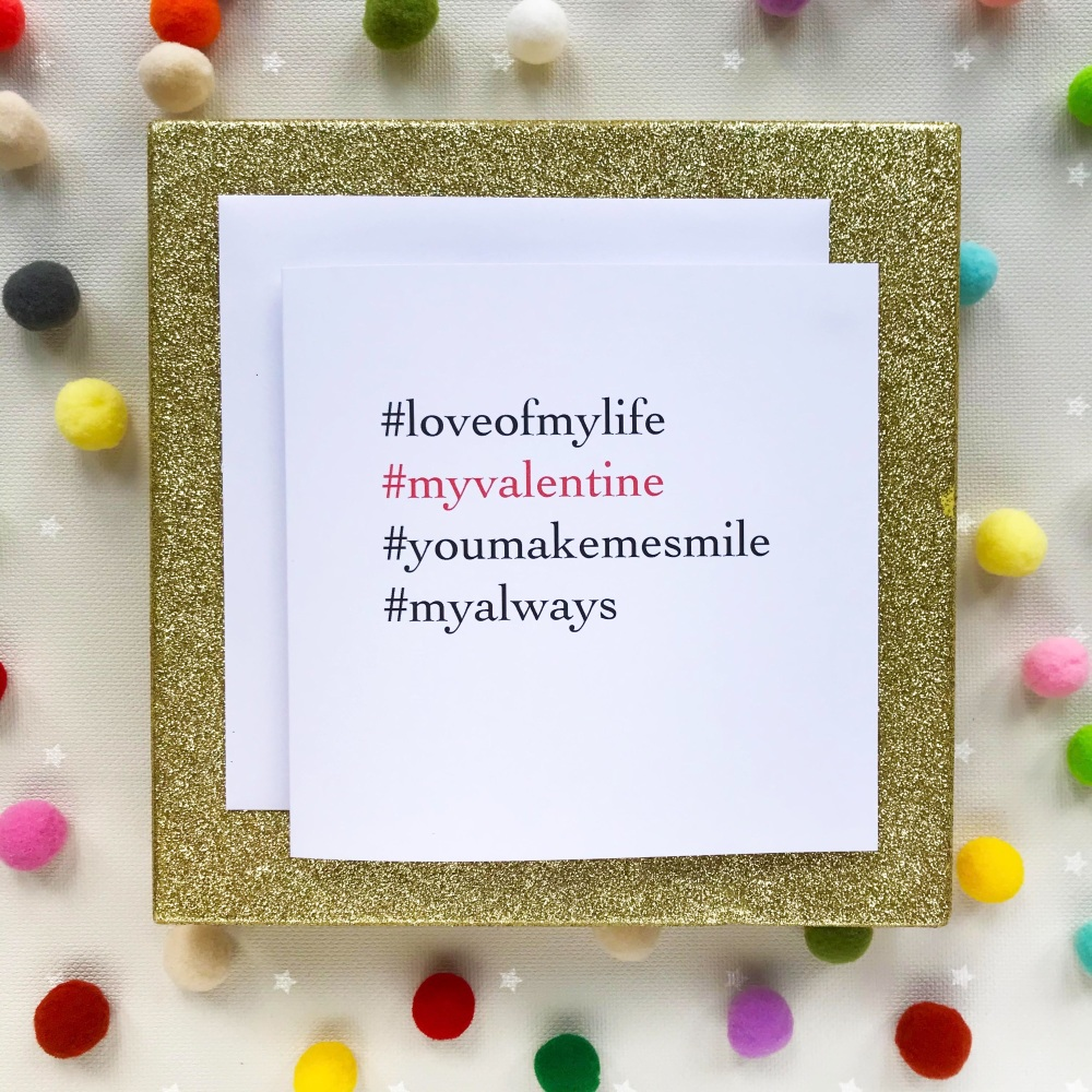 Valentine's Hashtag Greeting Card - Darling Wifey