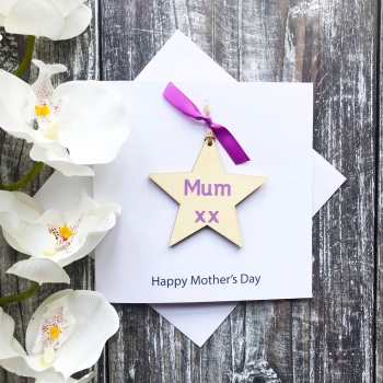 Mother's Day Card - Hanging Star