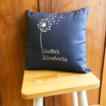 Grey Cushion - Scatter Kindness