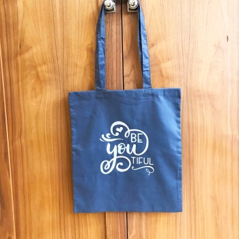 Grey Long Handled Tote Shopping Bag - BeYoutiful