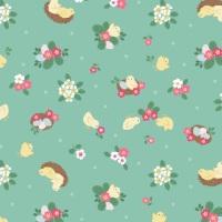 Bunny Hop - Chicks on Spring Green