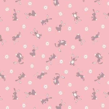 Bunny Hop - Bunny on Pink