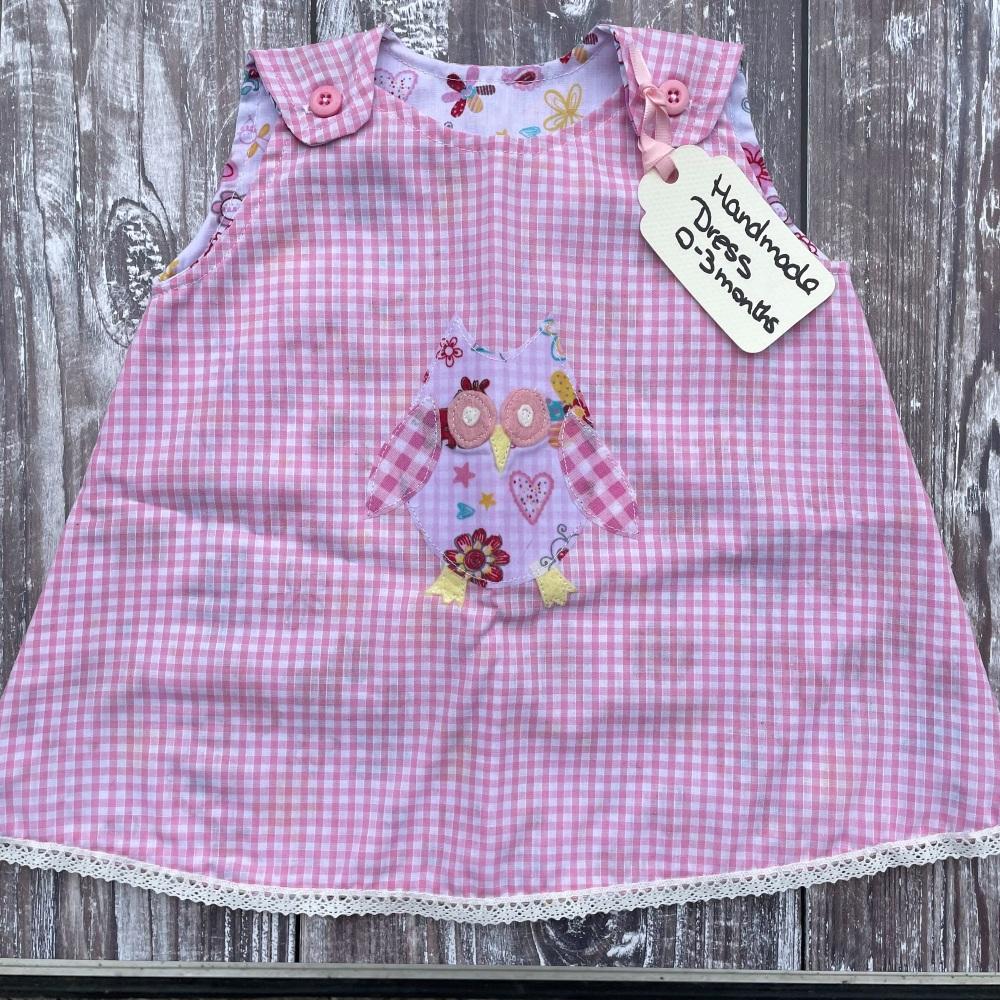 Baby Girl Pinafore Dress | Handmade | 0-3 months