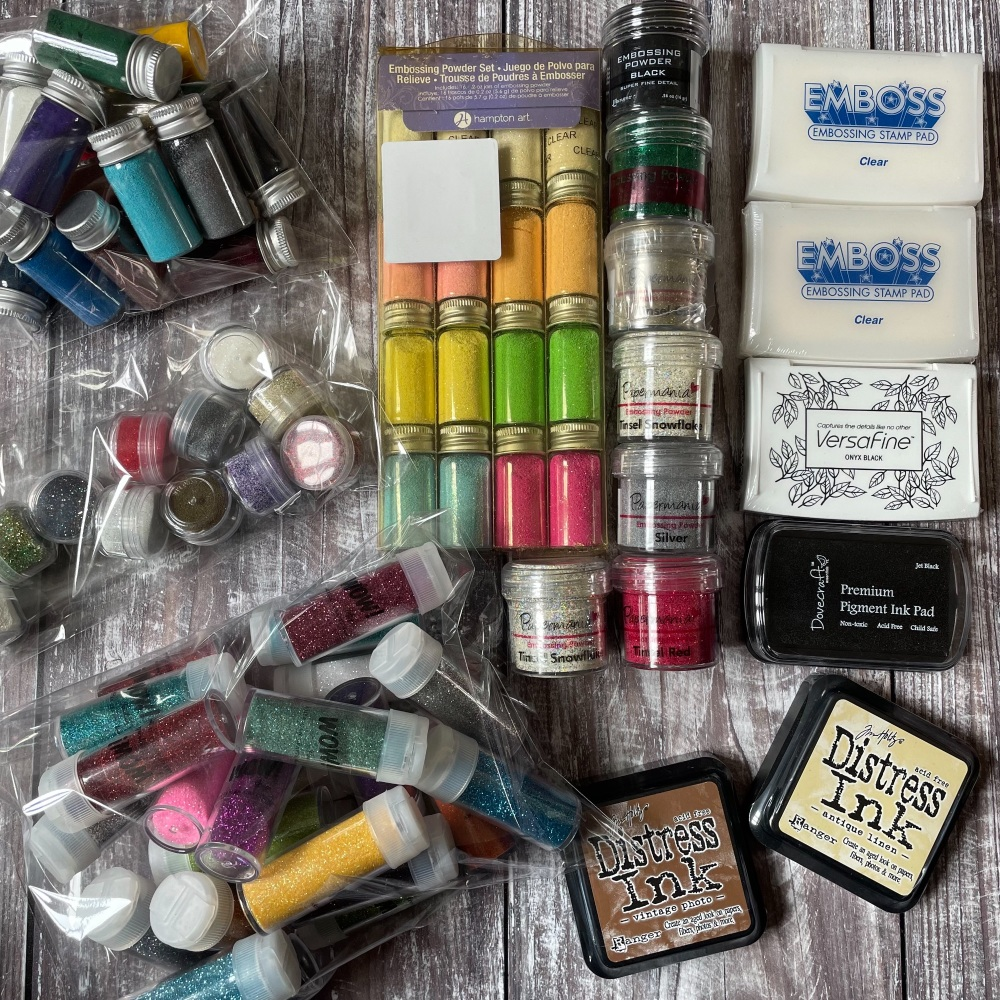 Embossing Powders   Assorted Colours   Bulk Buy   Craft Supplies   Papercraft Supplies