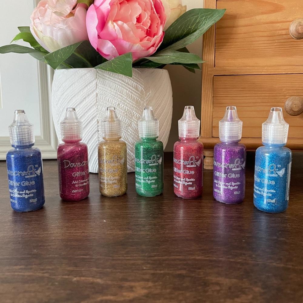 Glitter Glue | Assorted Colours | Decorative Craft Glitter Glues