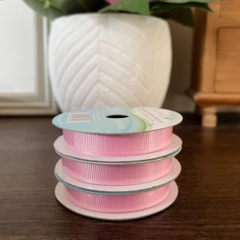 Grosgrain Ribbon | Pink | 3m Reel | Crosgrain Creative Ribbons