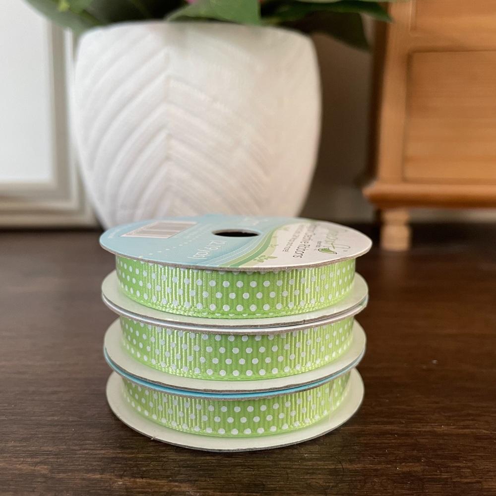 Gingham Ribbon | Lilac | 2m Reel | Grosgrain Creative Ribbons
