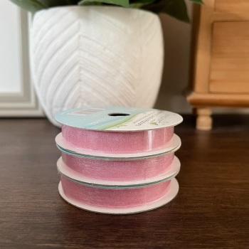 Organza Ribbon | Pink | 3m Reel | Organza Creative Ribbons