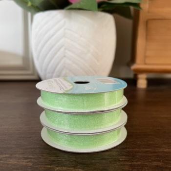 Organza Ribbon | Lime Green | 3m Reel | Organza Creative Ribbons