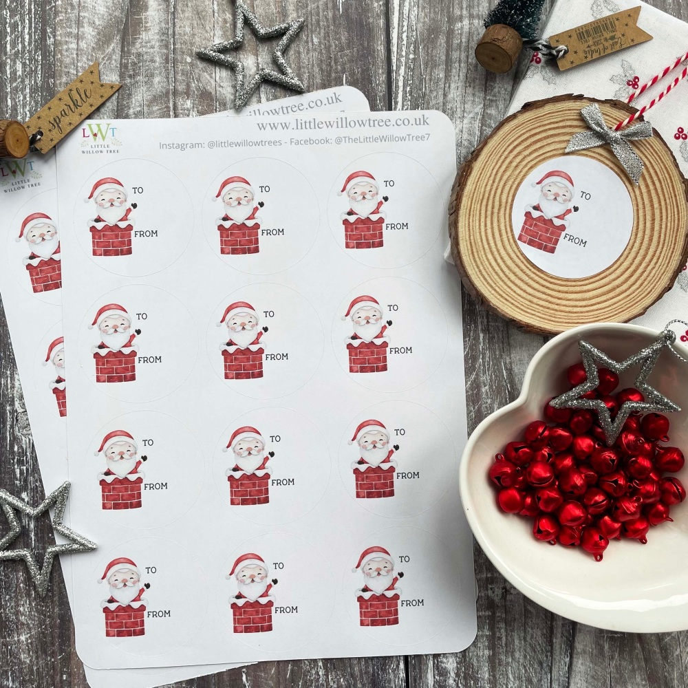 Christmas Gift Labels/Stickers | Stack of Presents | 12 Stickers Per Sheet
