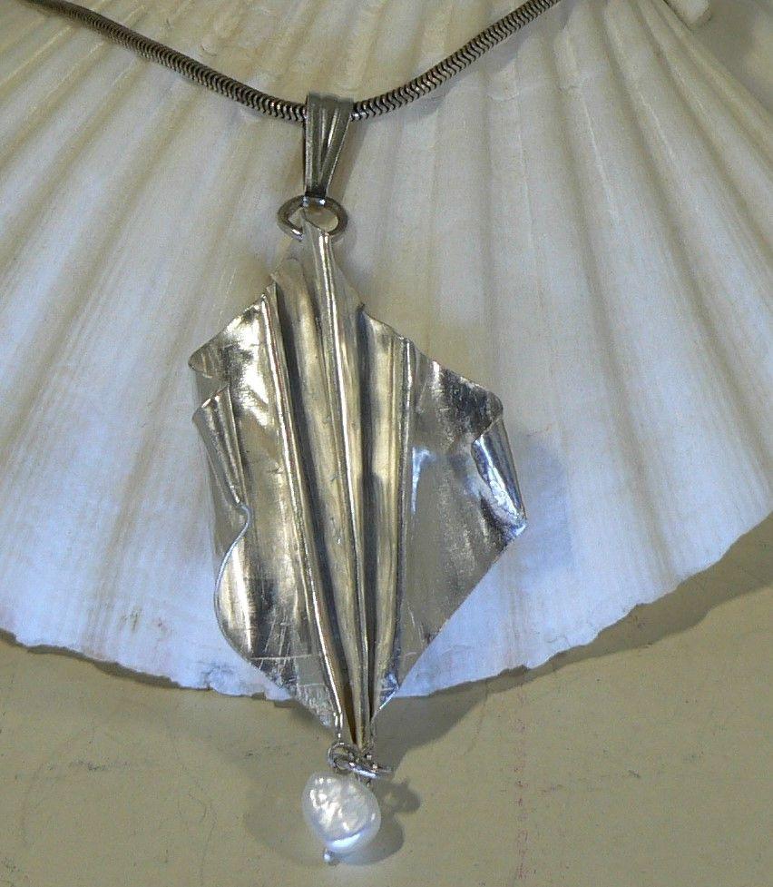 Sterling silver fold formed beauty