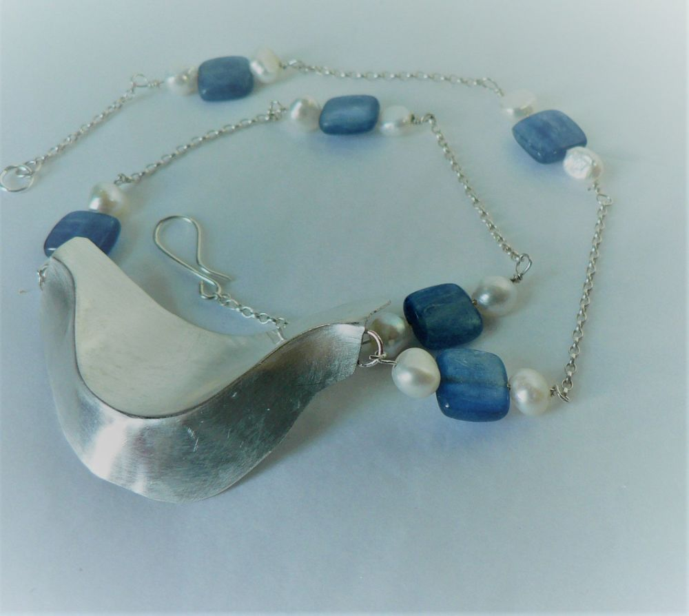 Silver and kyanite