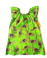 Green Flutter Sleeve Dress (6-7yrs)