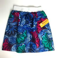 Blue, Pink & Green Party Skirt (4-7yrs)