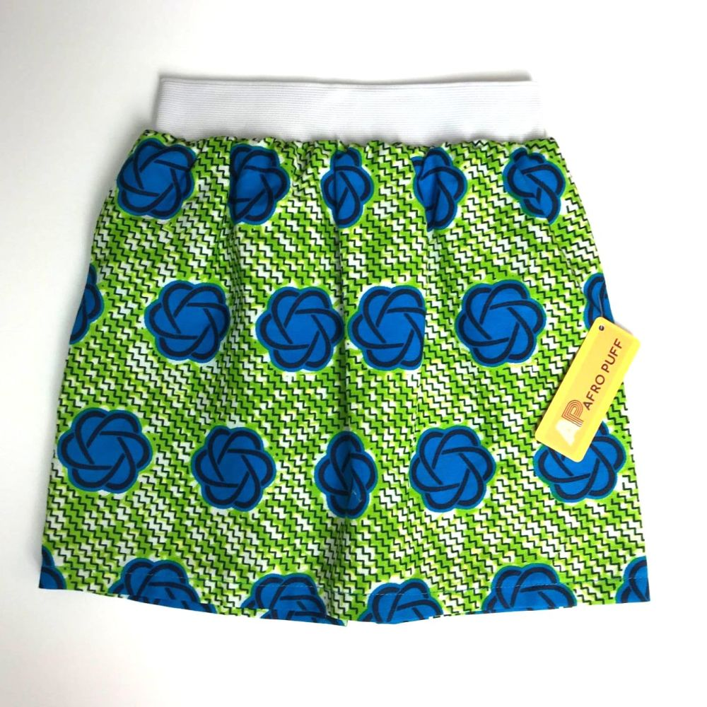Green & Blue Party Skirt