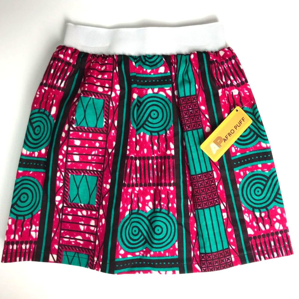 Pink & Green Party Skirt