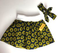 Tulle Skirt with Headband (5-6yrs) - Yellow and Blue