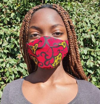 Red Fabrics - African Print Face Mask