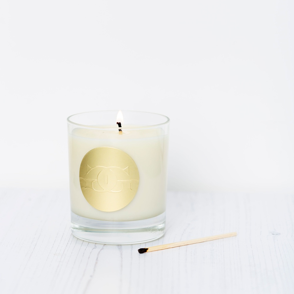 Gold Embossed Candle