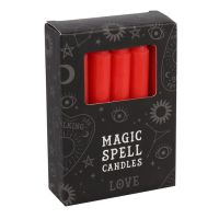 Pack of 12 Red Spell Candles ~ Love