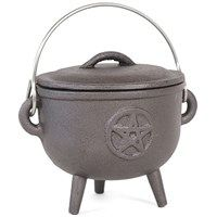 Cast Iron Cauldron ~ Pentagram 11cm