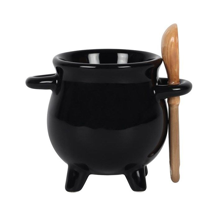 Cauldron Egg Cup & Broom Spoon