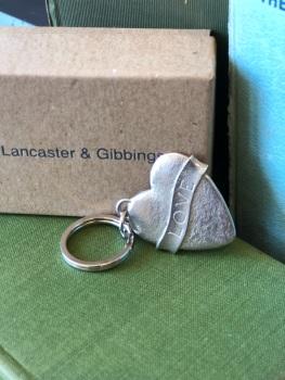 Pewter Love Engraved Key Ring