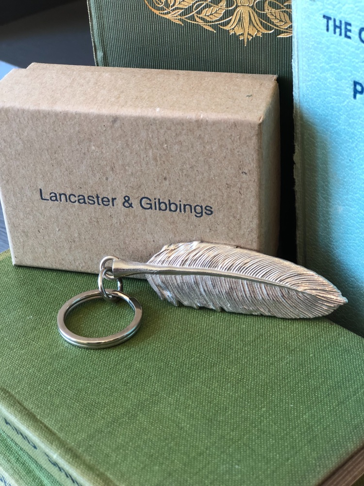 Pewter Feather Key Ring
