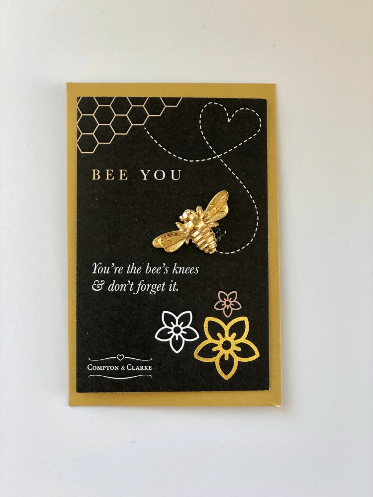 Gold Plated Pewter Bee You Token