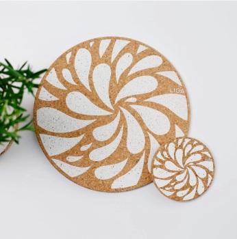 Printed Cork Table Mats And Coasters