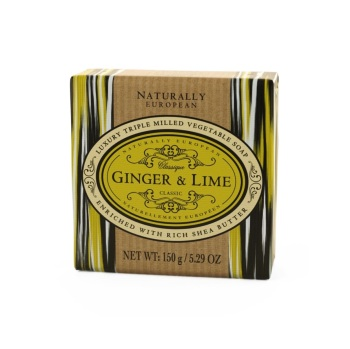 Naturally European Ginger And Lime Gift Wrapped Soap