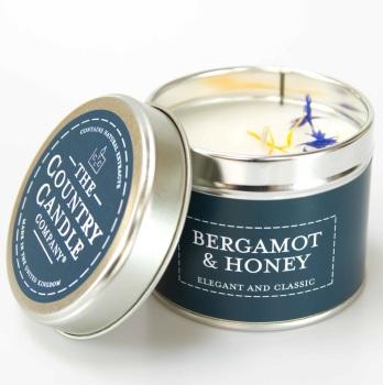 Bergamot And Honey Fragrance Candle Tin