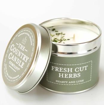 Fresh Cut Herbs Fragrance Candle Tin