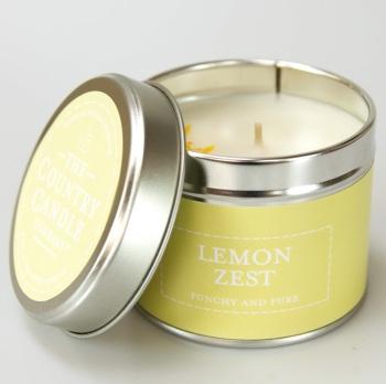 Lemon Zest Fragrance Candle Tin