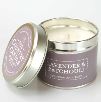 Lavender And Patchouli Fragrance Candle Tin