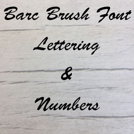 Barc Brush font Letters words and names
