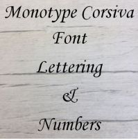 Monotype Corsiva font Letters words and names