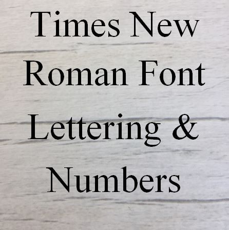 Times New Roman Letters words and names