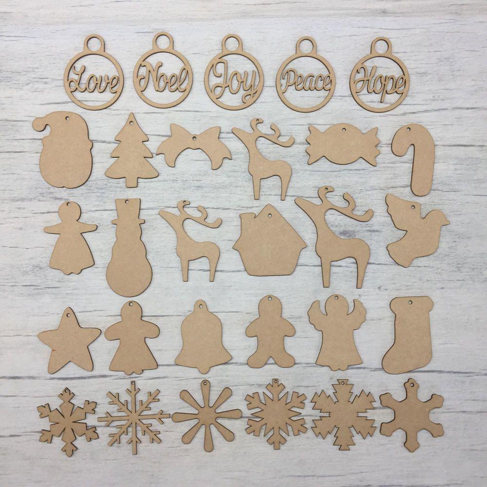 Christmas shapes Set LARGE 29 Pieces