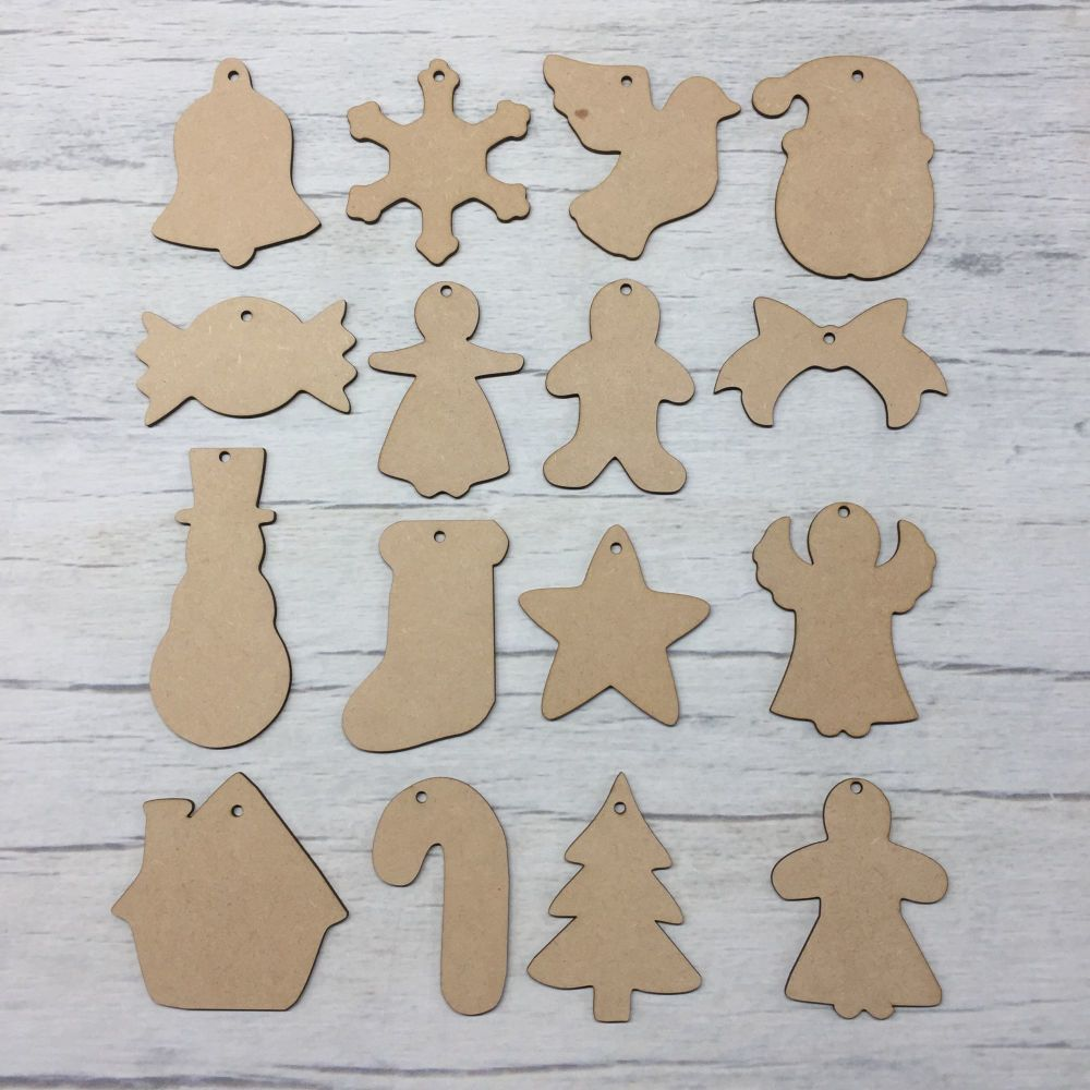 Christmas shapes Set of 16