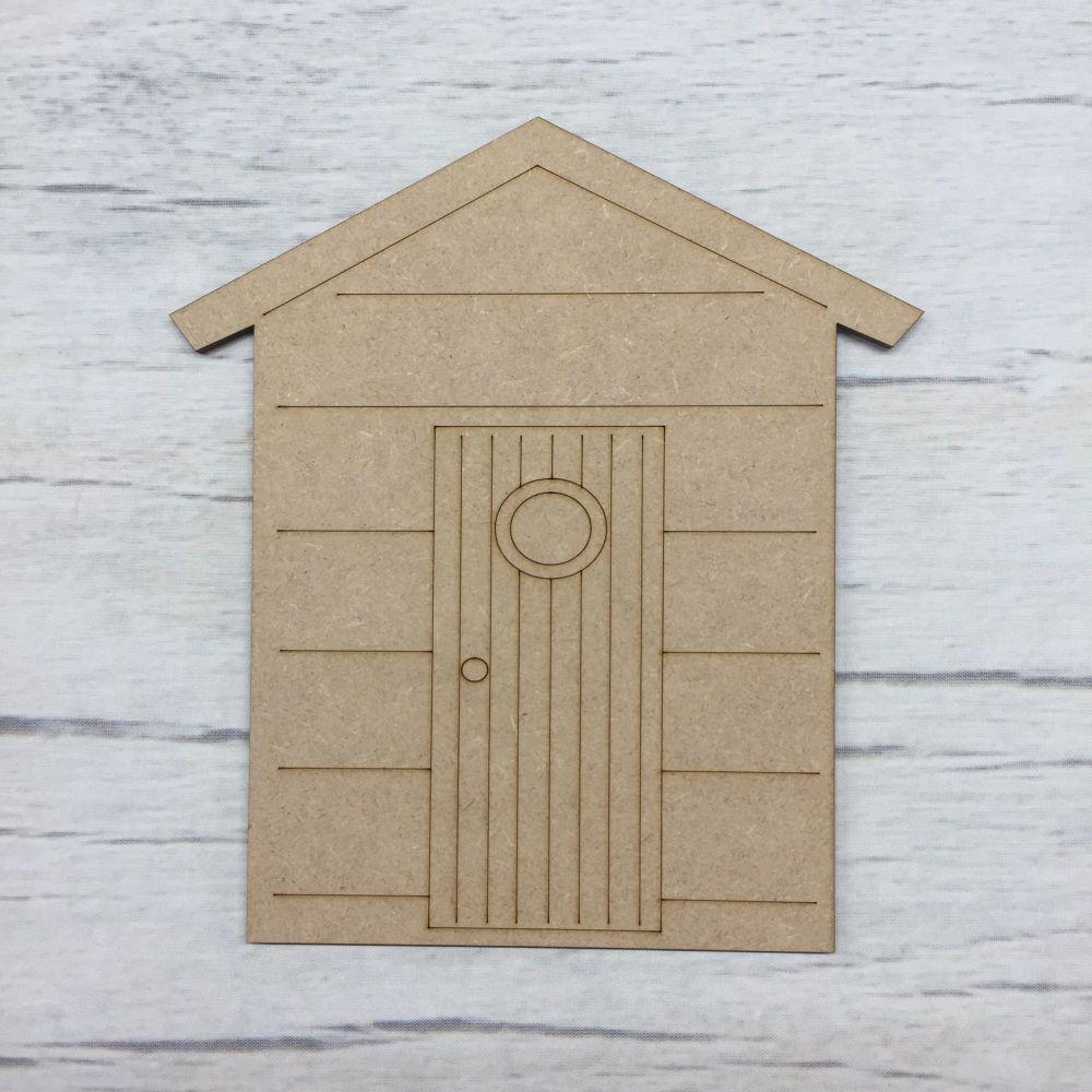 Beach Hut - engraved