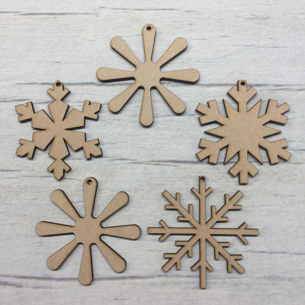 Set of 5 Snowflakes