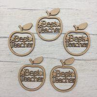 Best Teacher' apple hangers - set of 5