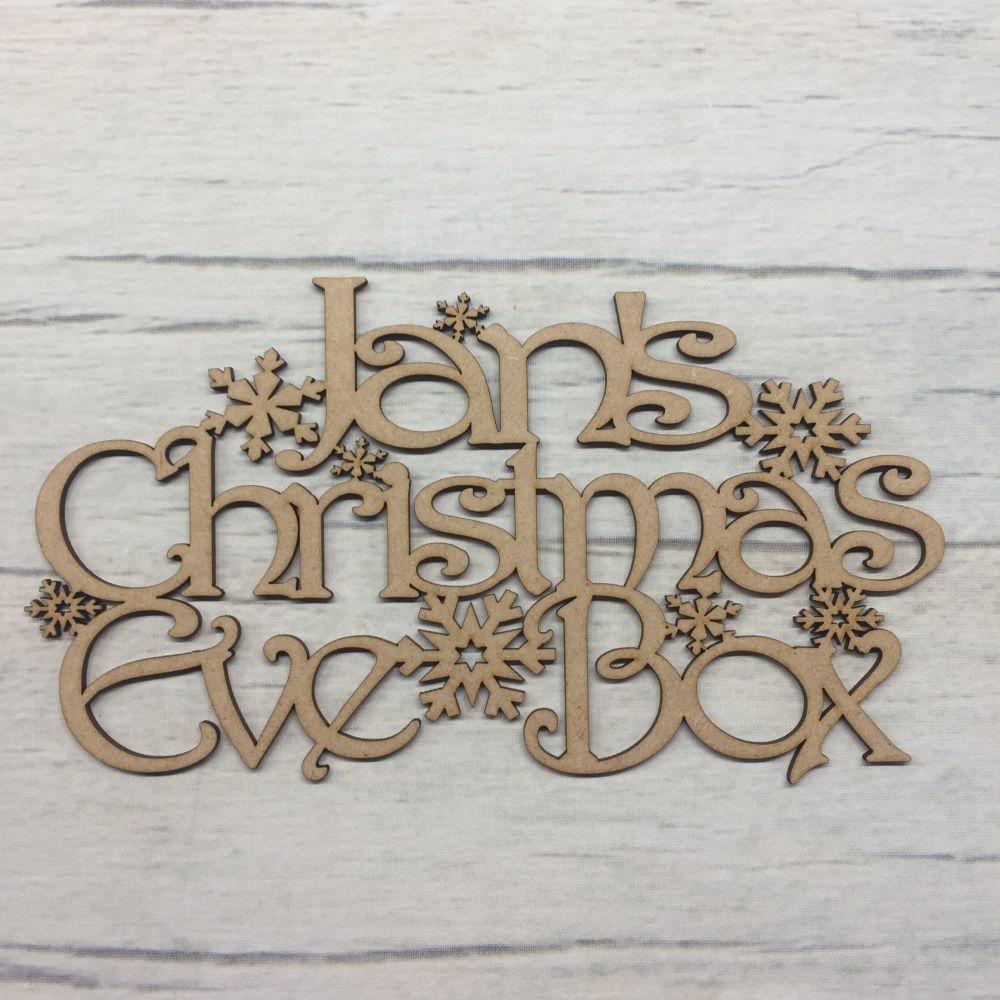 Christmas eve box topper - Snowflake design - customised