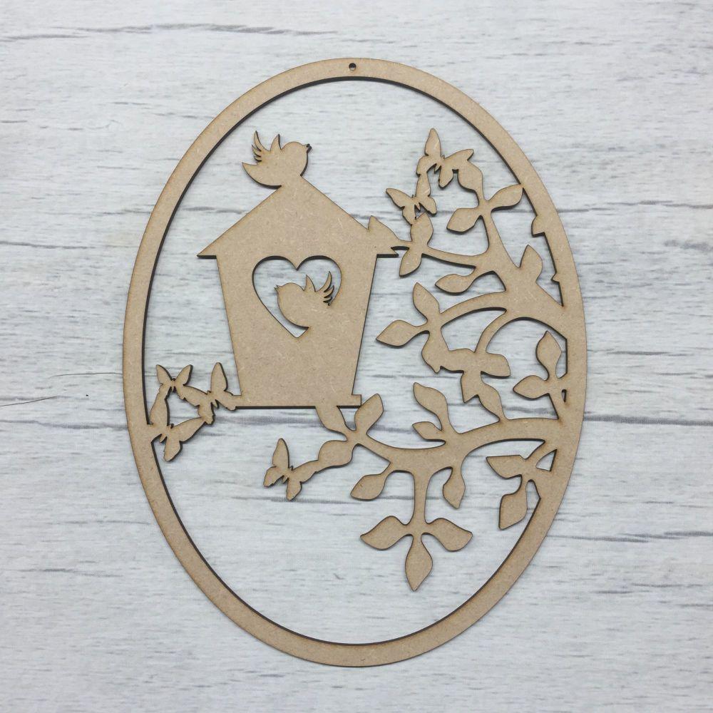 Birdhouse Scene plaque