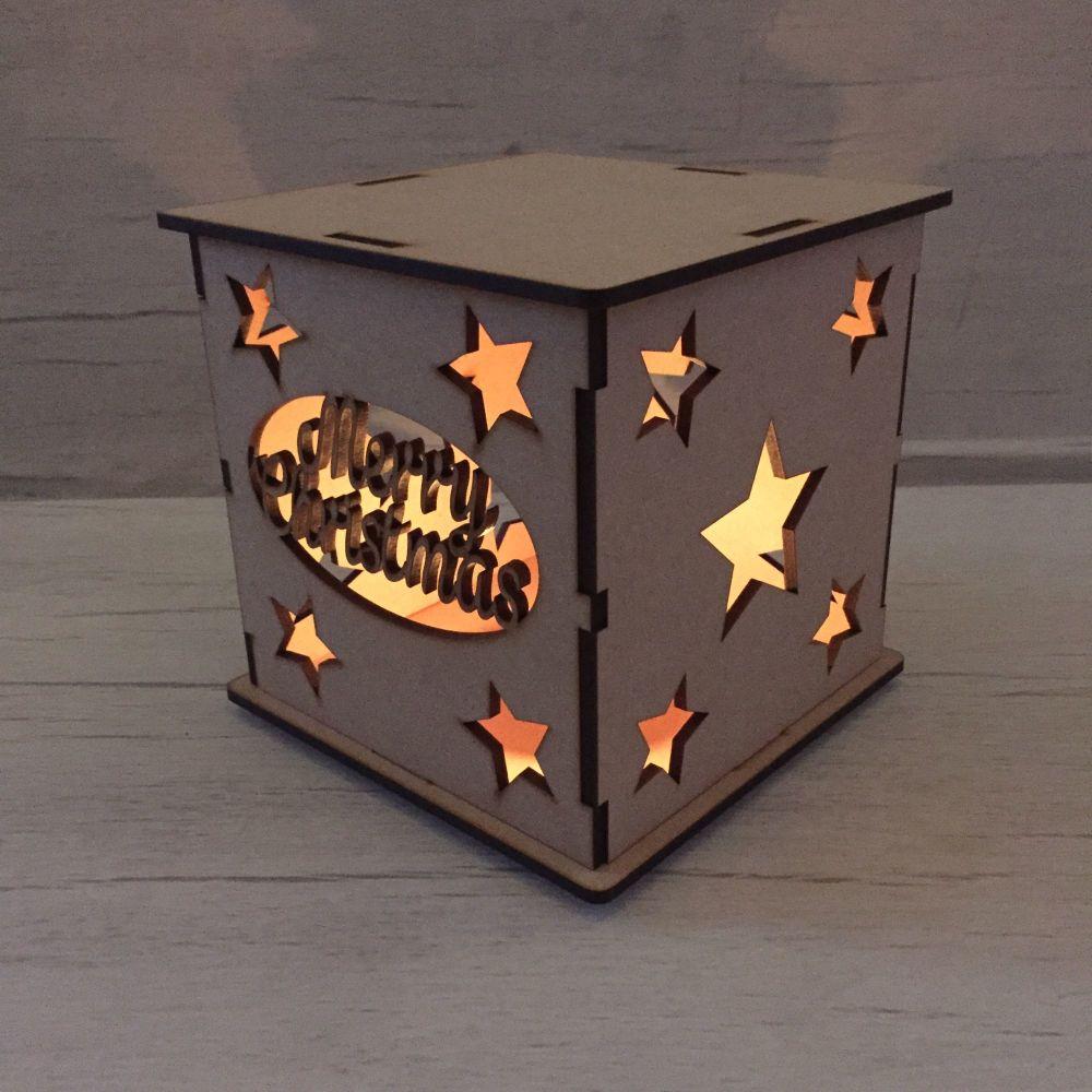 Merry Christmas LED light box.