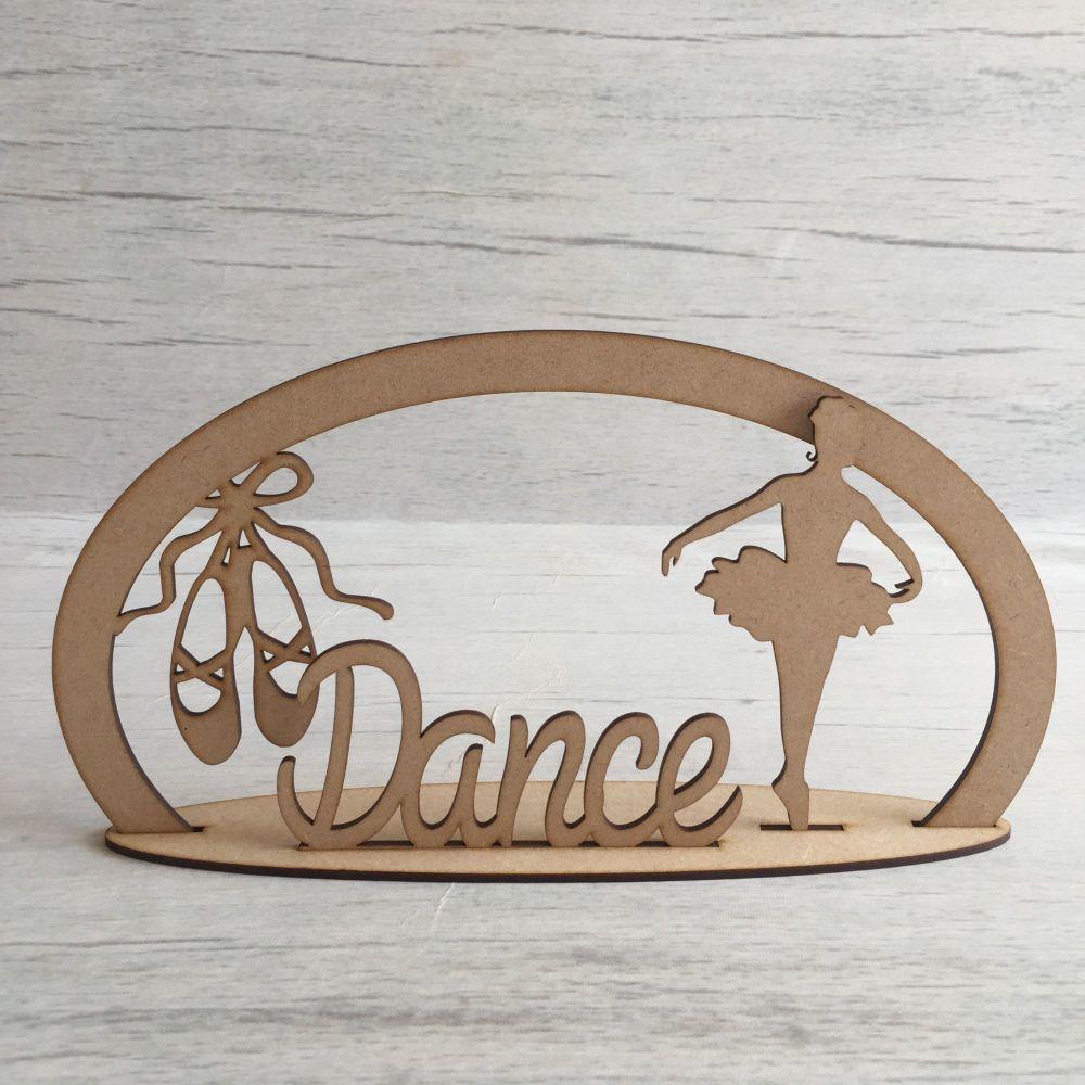 Wooden ballet dance freestanding laser cut craft scene