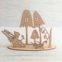 Fairy garden scene - freestanding